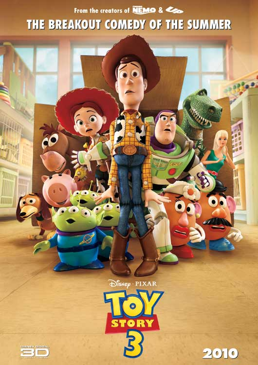 Toy Story 3 hits UK cinemas on July 23rd, but take a look at the new poster  below (and under that, check out some awesome new Kick-Ass retro posters).